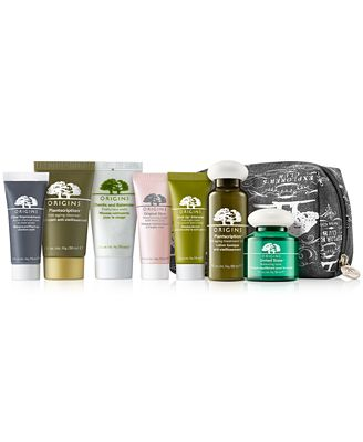 Receive a FREE Cosmetics Bag + Choose 3 Deluxe Samples wifh $45 Origins Purchase, Created for Macys!