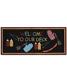"Nourison Welcome to Our Deck 1'10"" x 4'6"" Doormat"