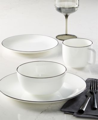 Black Line Salad Plate, Created for Macy's