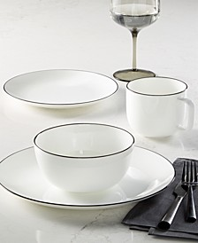 CLOSEOUT! Black Line Dinnerware Collection, Created for Macy's