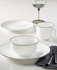 CLOSEOUT! Hotel Collection Black Line Dinnerware Collection, Created for Macy's