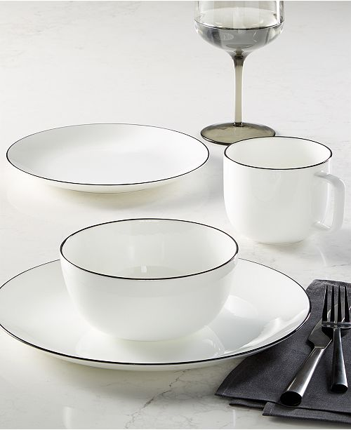 Hotel Collection CLOSEOUT! Black Line Dinnerware Collection, Created for Macy's