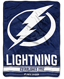 "Northwest Company Tampa Bay Lightning Micro Raschel 46x60 ""Break Away"" Blanket"