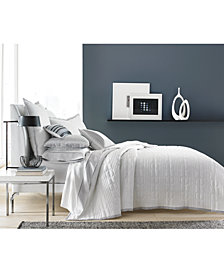 CLOSEOUT! Hotel Collection  Engineered Dots Quilted Twin Coverlet, Created for Macy's