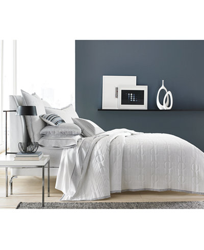 CLOSEOUT! Hotel Collection Engineered Dots Quilted King Coverlet, Created for Macy's