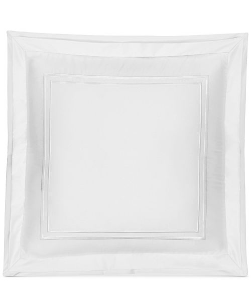 """Hotel Collection Embroidered Frame 16"""" Square Decorative Pillow, Created for Macy's"""