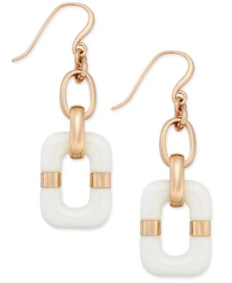 Image of Charter Club Resin Rectangular Drop Earrings, Created for Macy's