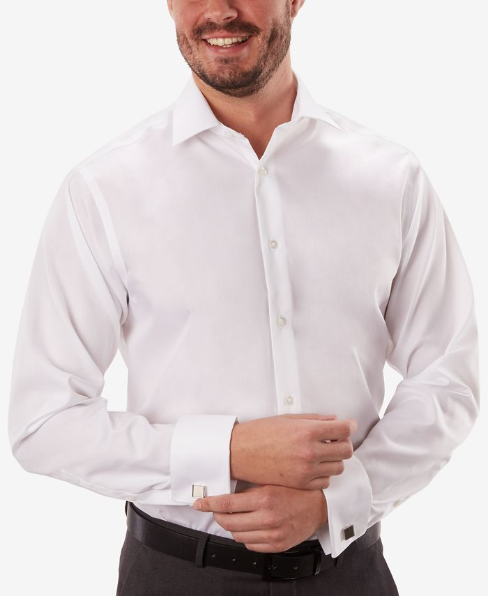Calvin Klein - Men's Classic-Fit Non-Iron White French Cuff Dress Shirt