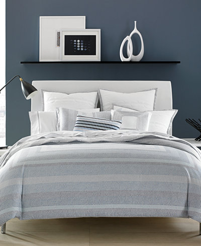 CLOSEOUT! Hotel Collection Cotton Reversible Engineered Dots Full/Queen Duvet Cover, Created for Macy's