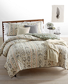 CLOSEOUT! Whim by Martha Stewart Collection Freebird Cotton Reversible Quilt and Sham Collection, Created for Macy's