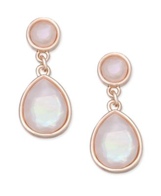 Image of Charter Club Stone Drop Earrings, Only at Macy's