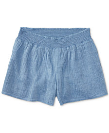 Polo Ralph Lauren Cotton Chambray Shorts, Big Girls (7-16)