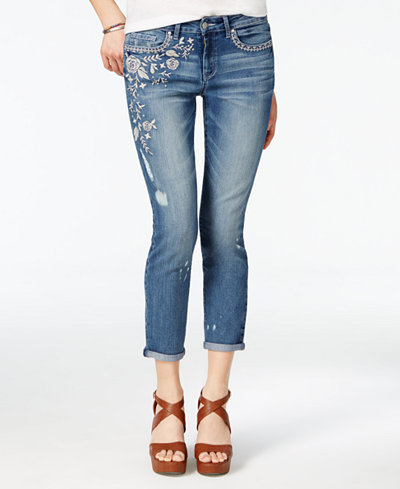 Jessica Simpson Embroidered Skinny Jeans