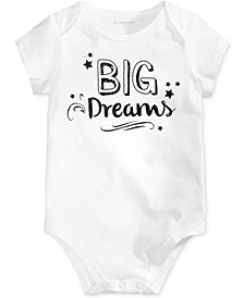 First Impressions Big Dreams Cotton Bodysuit, Baby Boys & Girls, Created for Macy's