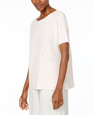 Eileen Fisher Organic Linen-Cotton Boxy Sweater - Sweaters - Women ...