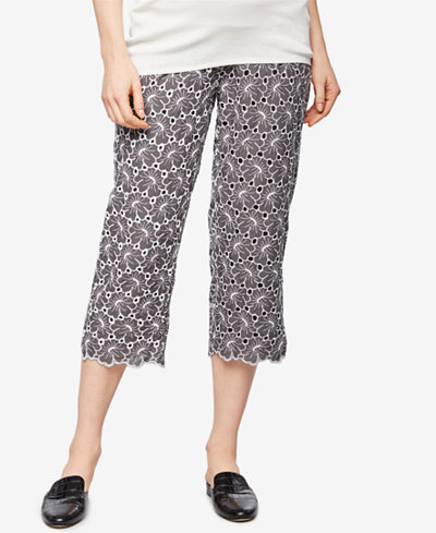 A Pea In The Pod Maternity Lace Cropped Pants