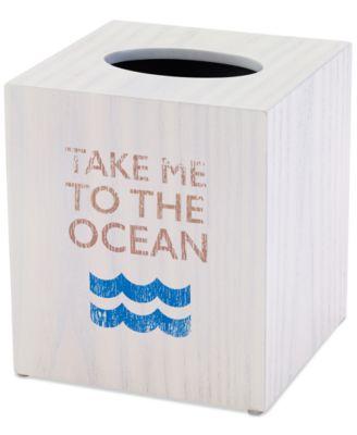 Beach Words Tissue Cover