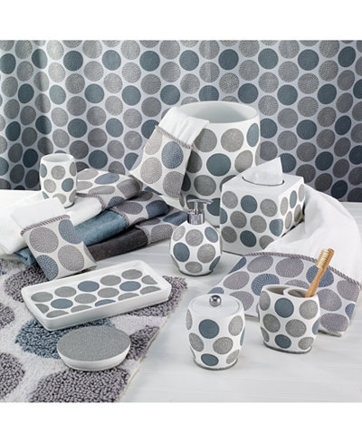 Avanti Dotted Circle Bath Accessories Collection