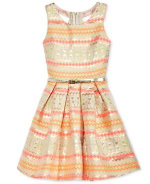 Pink & Violet Brocade Dress, Big Girls (7-16) 4411998