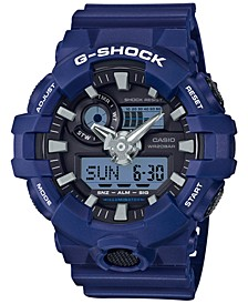 Men's Analog-Digital Blue Resin Strap Watch 54mm GA700-2A