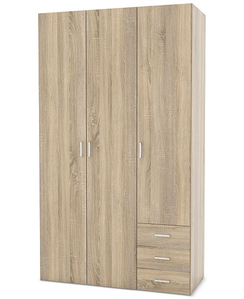 Tvilum Henman 3 Door Wardrobe Quick Ship Furniture Macys
