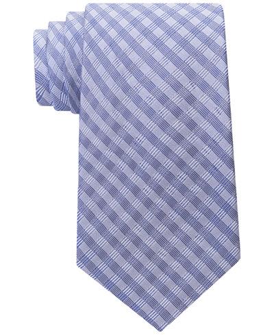 Calvin Klein Men's Ridge Mini Check Tie