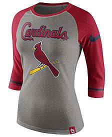 Nike Women's St. Louis Cardinals Tri Raglan T-Shirt