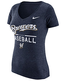 Nike Women's Milwaukee Brewers Practice T-Shirt