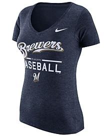 Nike Women's Milwaukee Brewers Practice T-Shirt