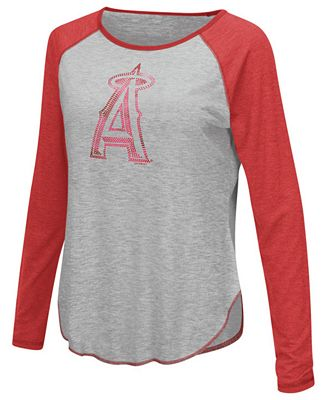 Touch by Alyssa Milano Women's Los Angeles Angels of Anaheim Line Drive Long Sleeve T-Shirt