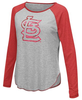 Touch by Alyssa Milano Women's St. Louis Cardinals Line Drive Long Sleeve T-Shirt