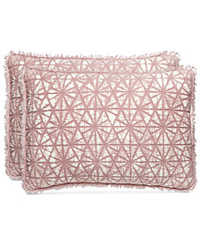 Whim by Martha Stewart Collection Beach Wash  100% Cotton Sunset Pink Quilted Standard Sham, Created for Macy's