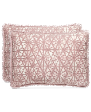 Whim by Martha Stewart Collection Beach Wash 100 Cotton Sunset Pink Quilted Standard Sham Created for Macys