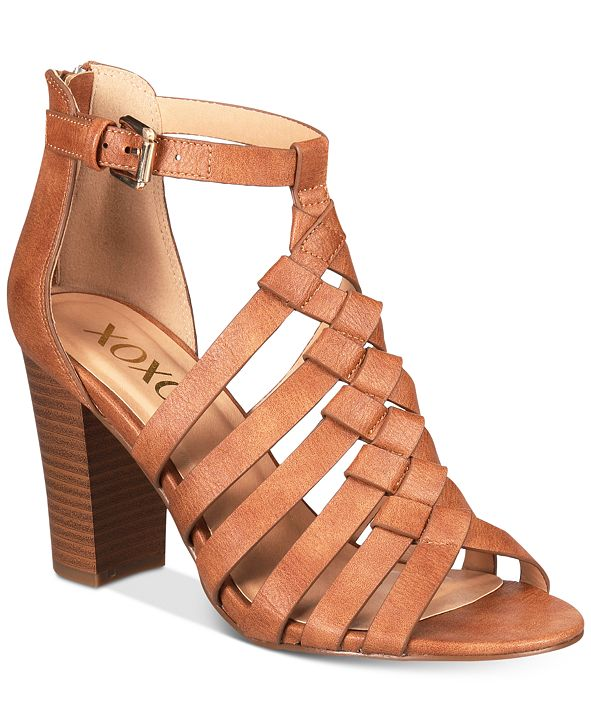 XOXO Baxter Strappy Block-Heel Sandals