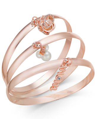 Image of Charter Club 3-Pc. Set Mom Charm Bangle Bracelets, Only at Macy's
