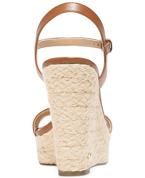 8e2ef8f4b4b Michael Kors Jill Espadrille Wedge Sandals   Reviews - Sandals ...