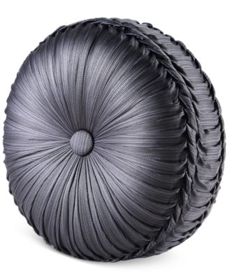 "Bohemia Graphite Tufted 15"" Round Decorative Pillow"