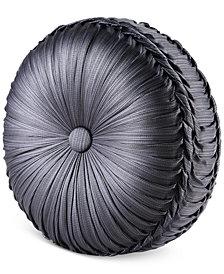 "J Queen New York Bohemia Graphite Tufted 15"" Round Decorative Pillow"