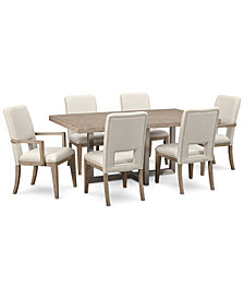 CLOSEOUT! Altair Dining Furniture Set, 7-Pc. (Dining Table, 4 Side Chairs & 2 Arm Chairs), Created for Macy's
