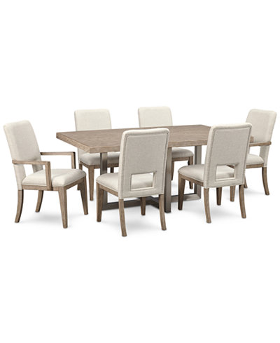 Altair Dining Furniture Set, 7-Pc. (Dining Table, 4 Side Chairs & 2 Arm Chairs), Created for Macy's