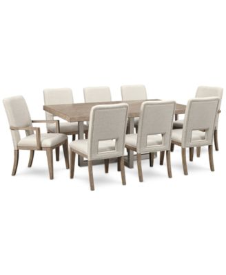 Altair Dining Furniture Set, 9-Pc. (Dining Table, 6 Side Chairs & 2 Arm Chairs), Created for Macy's
