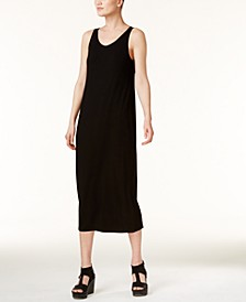 Stretch Jersey Scoop-Neck Midi Dress, Regular & Petite