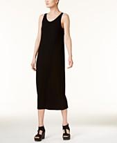 22035de000a1 Eileen Fisher SYSTEM Stretch Jersey Scoop-Neck Midi Dress