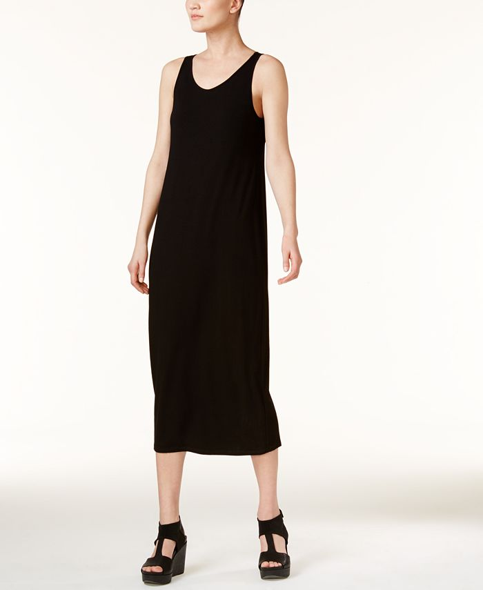 Eileen Fisher - Sleeveless Scoop-Neck Maxi Dress