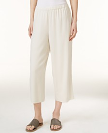 Eileen Fisher SYSTEM Silk Cropped Pants, Regular & Petite