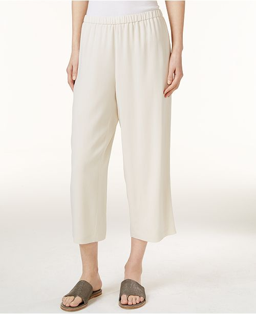 Eileen Fisher Silk Cropped Pants, Regular & Petite