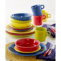 Deals on Fiesta Mixed Bright Colors 16-Piece Set Service for 4