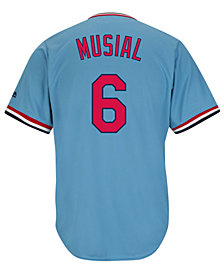 Majestic Men's Stan Musial St. Louis Cardinals Cooperstown Player Replica CB Jersey
