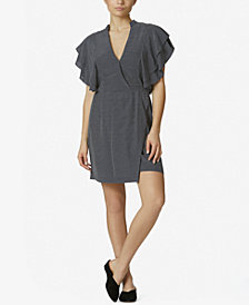 Avec Les Filles Ruffled-Sleeve Mini Dress