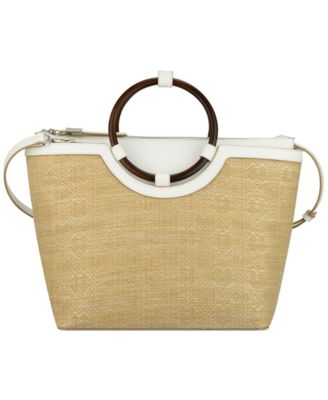 Image of Nine West Alyce Straw Tote